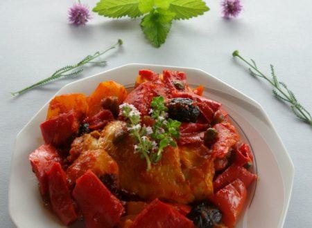 Pollo ai peperoni alla siciliana