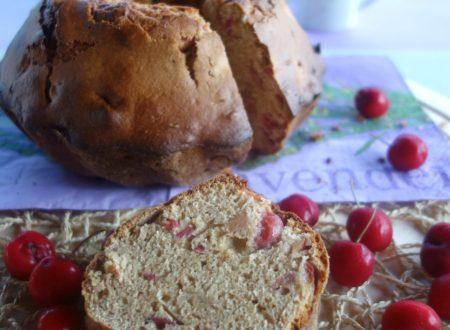 Ciambella di farro con ciliegie senza burro o olio