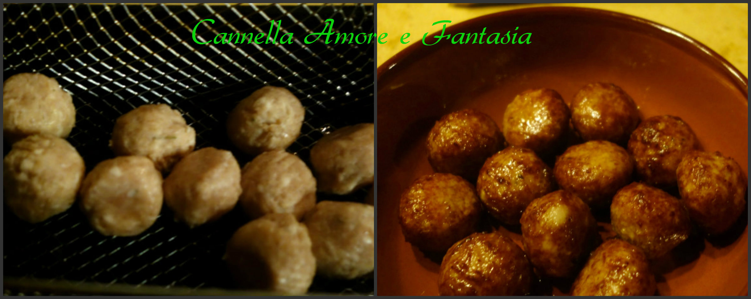polpette di pollo al curry Collage finito