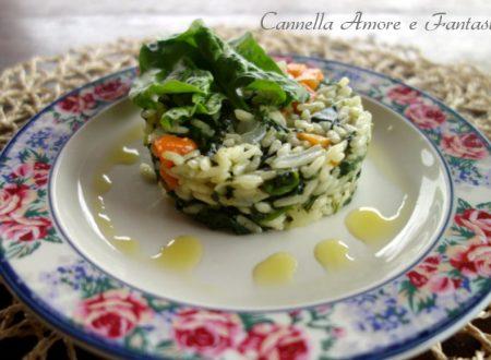 Risotto con gli spinaci e basilico