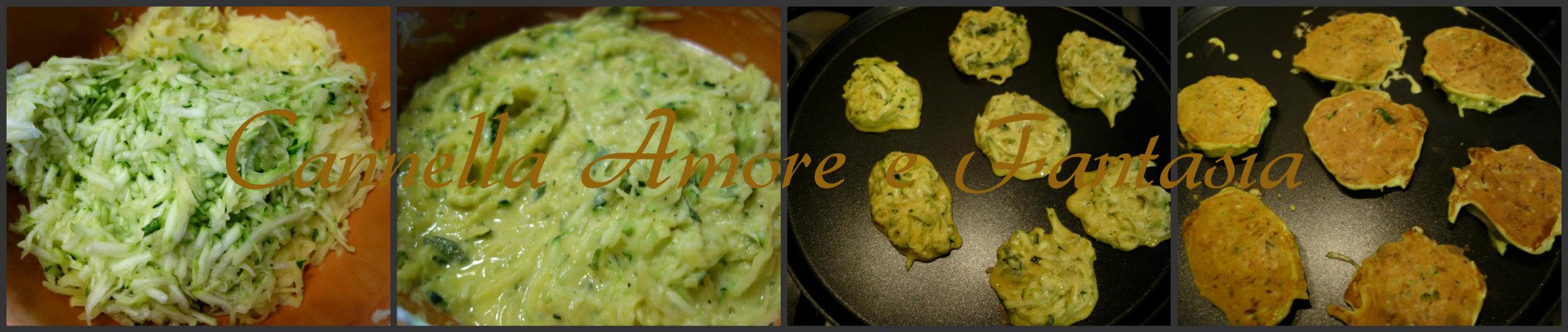 rosti di patate e zucchine collage finito