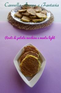 rosti di patate zucchine e menta light la giusta