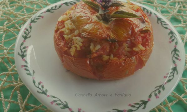 Pomodori ripieni di riso alla siciliana