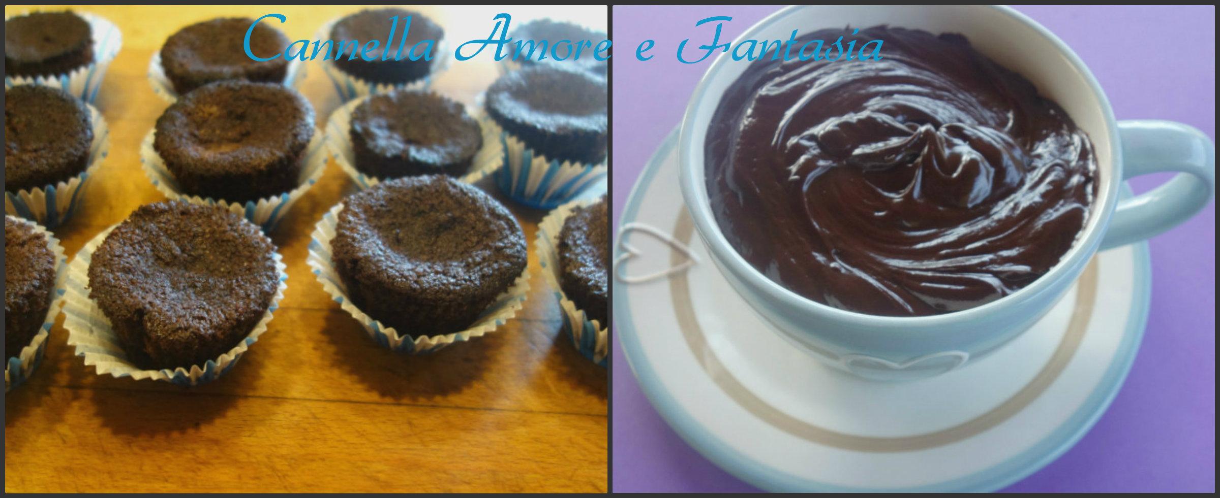 Muffins al cioccolato senza latte collage finito