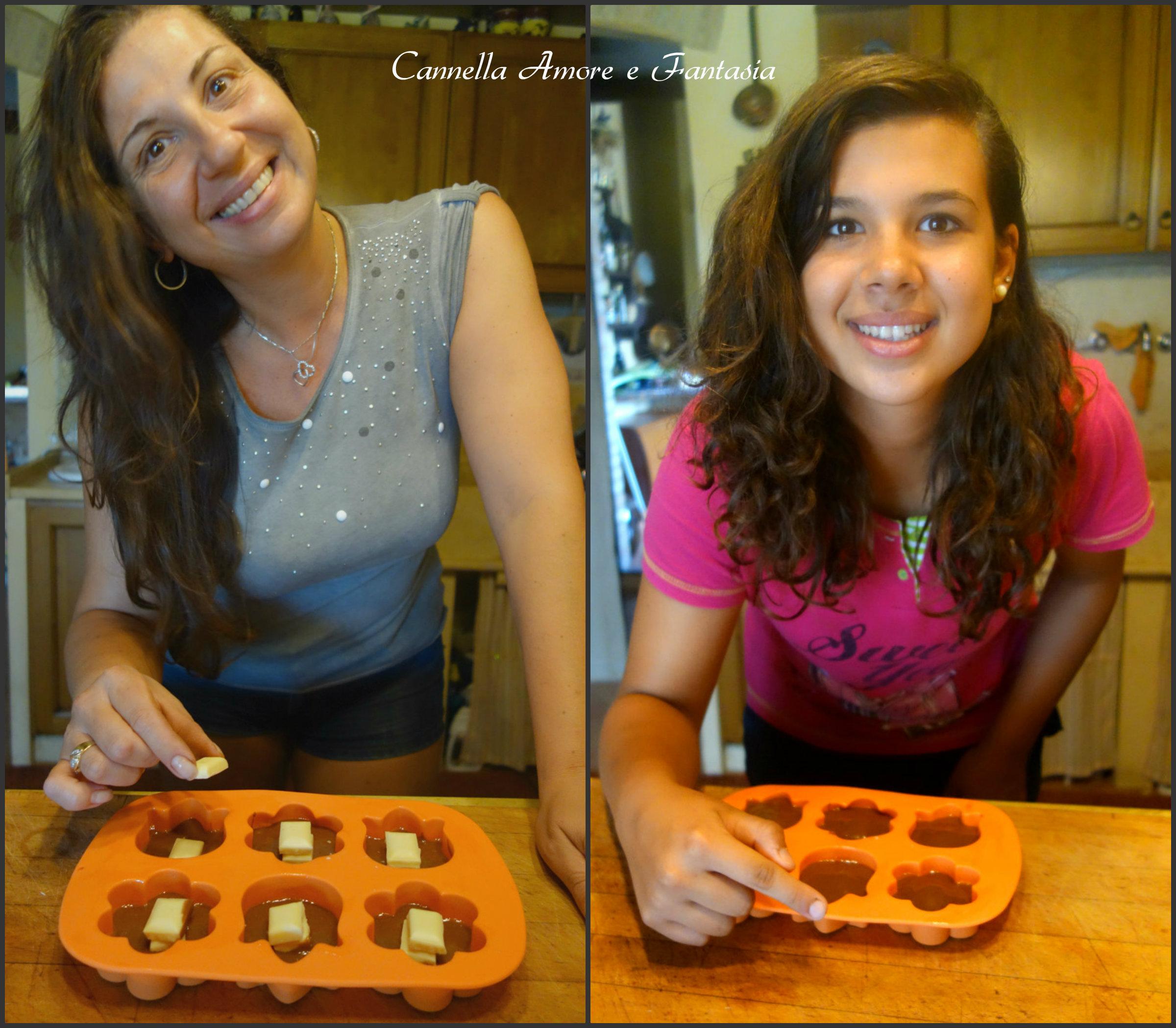 muffins con cuore di nutella e bianco collage finito 3