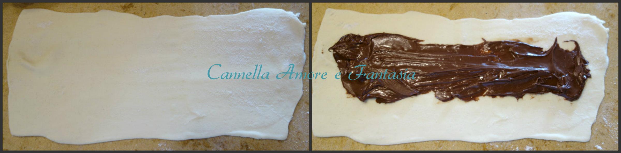 brioche di pasta sfoglia e nutella collage 1 finito