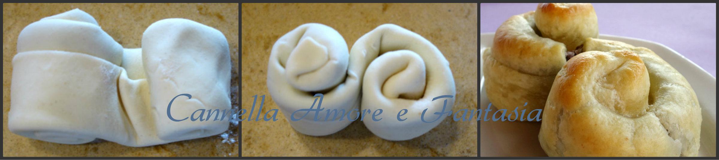 brioche di pasta sfoglia e nutella collage 3 finito