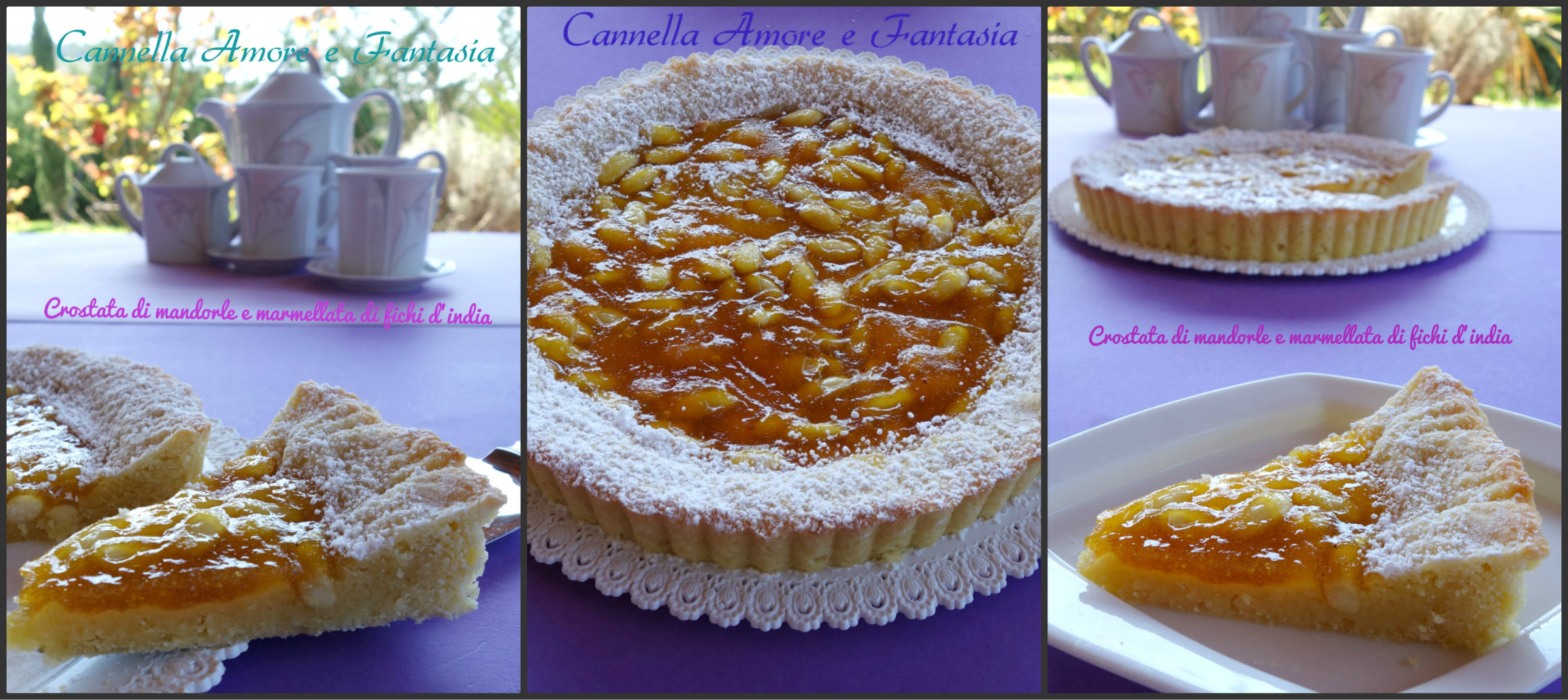 crostata di mandorle e marmellata di fichi d'india collage finito 2
