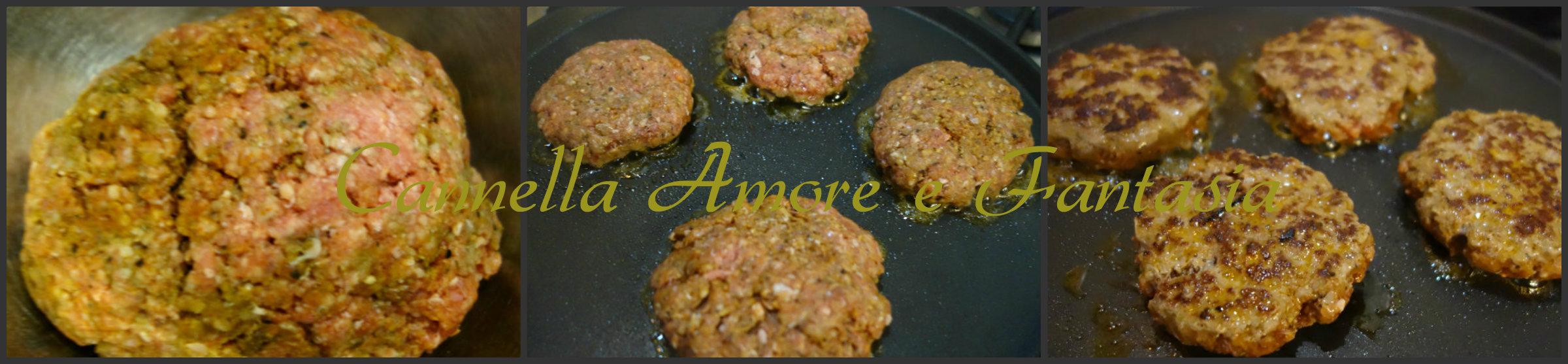 hamburger light e salsa all'avocado collage finito