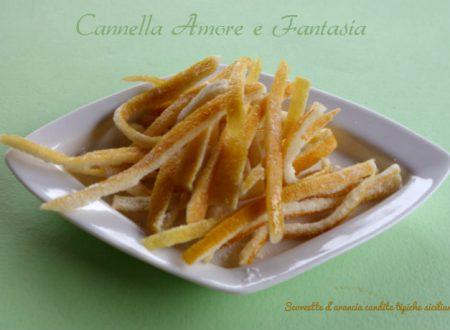 Scorzette d'arancia candite tipiche siciliane