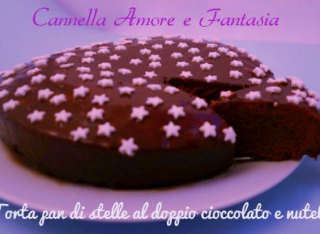 Torta pan di stelle al doppio cioccolato e Nutella