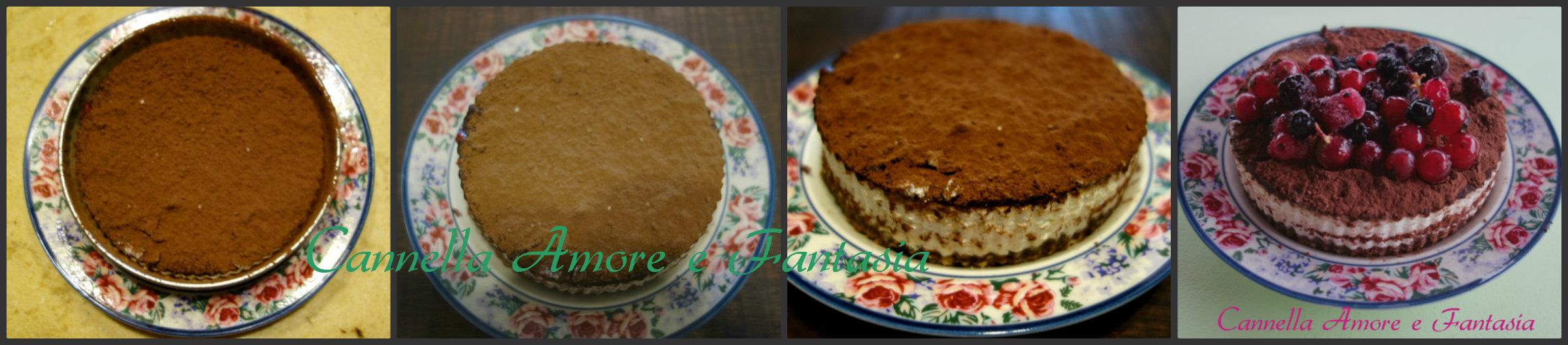 cheesecake ai frutti di bosco collage finito