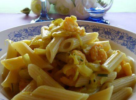 Penne gamberetti e insalata belga