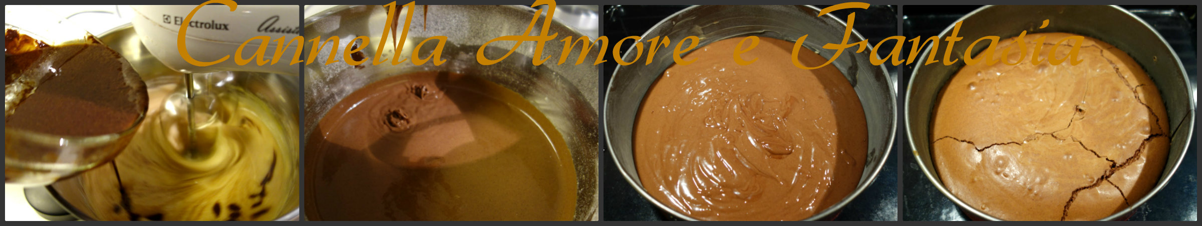 torta pan di stelle al doppio cioccolato e nutella impasto collage finito