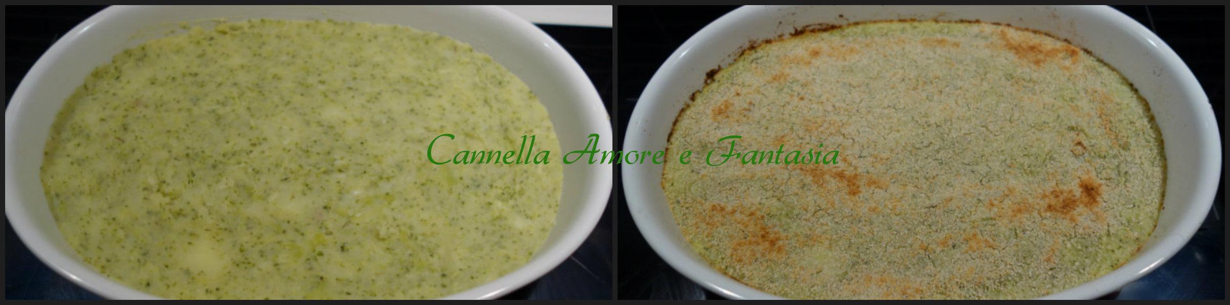 Sformato di broccoli e patate collage finito