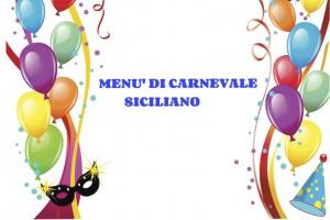 menù siciliano di carnevale
