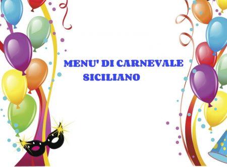 Menù di Carnevale Siciliano