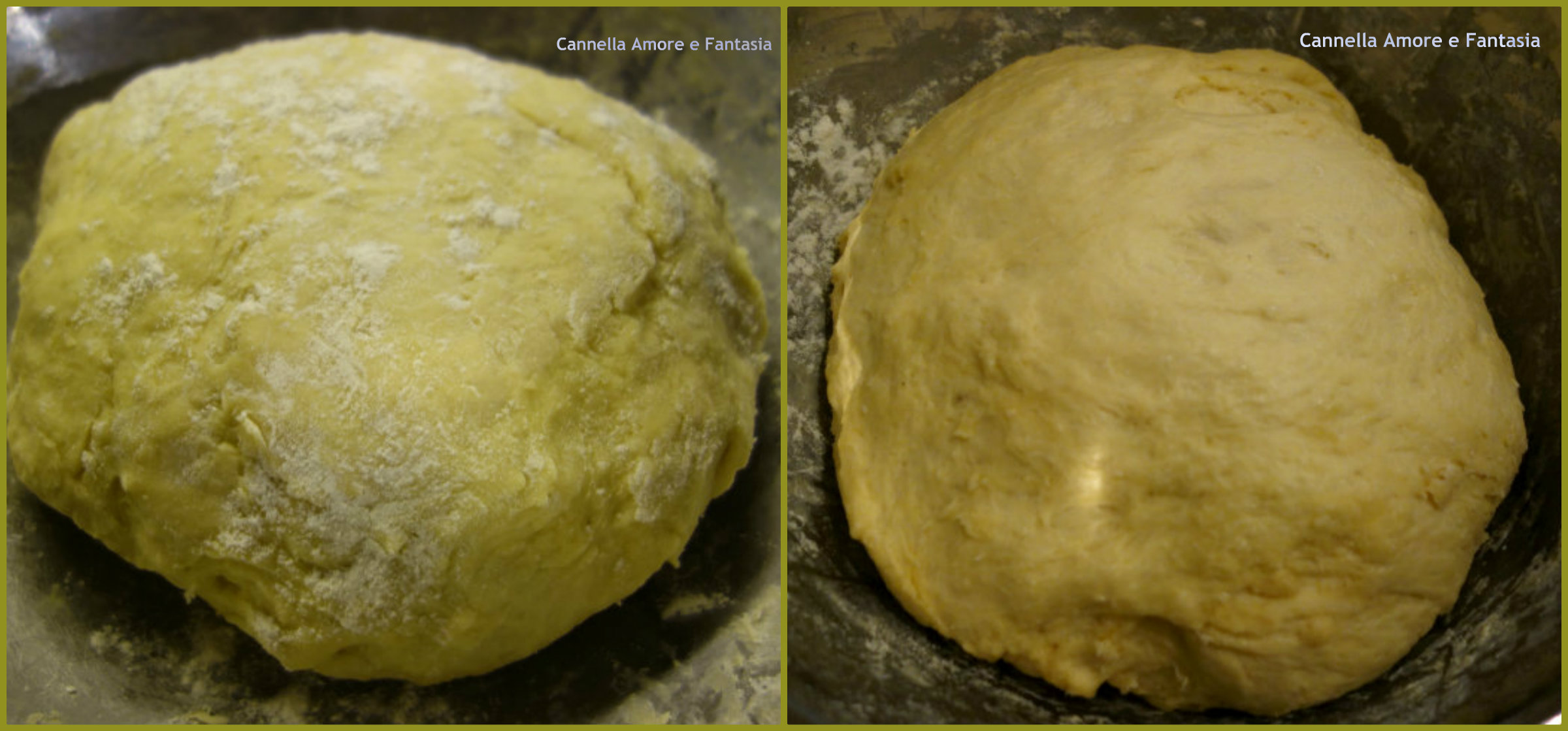 Bomboloni alla crema al forno o Krapfen collage finito 2
