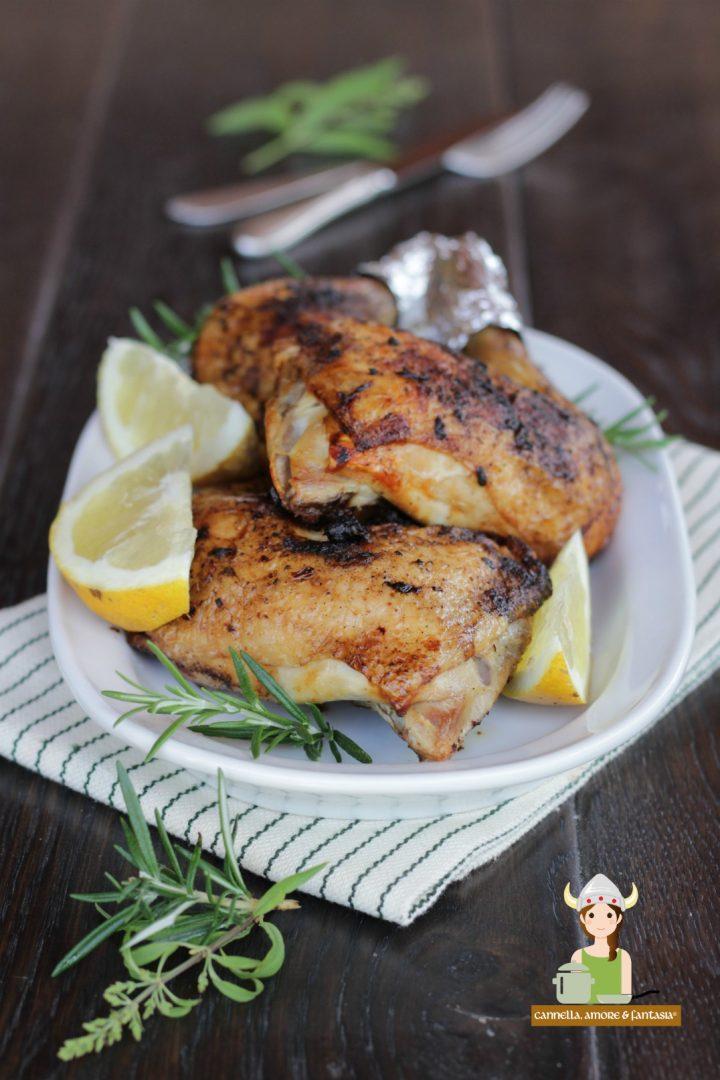 cosce di pollo al forno croccanti e saporite