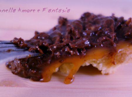 Crostata al caramello salato e cioccolato fondente