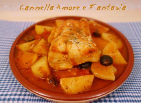 Filetto di merluzzo in umido alla siciliana