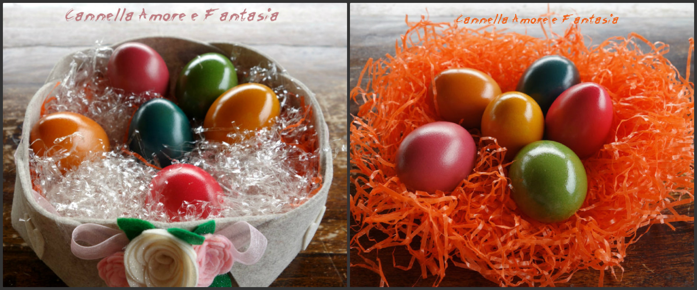 uova di pasqua colorate collage