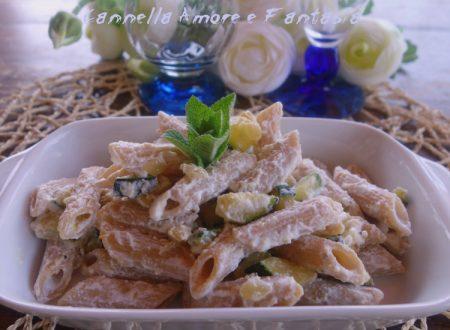 Penne integrali con ricotta e zucchine