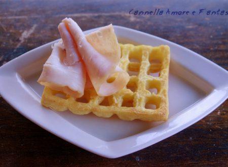 Gaufres / waffles di patate ricetta salata