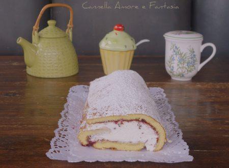 Rotolo cheesecake ciliegie e cioccolato