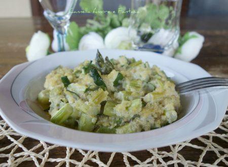 Quinoa risottata con asparagi e zucchine