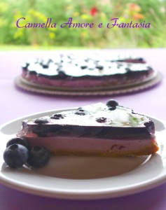 cheesecake yogurt e mirtilli