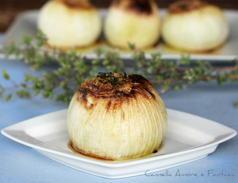 Cipolle al forno alla siciliana