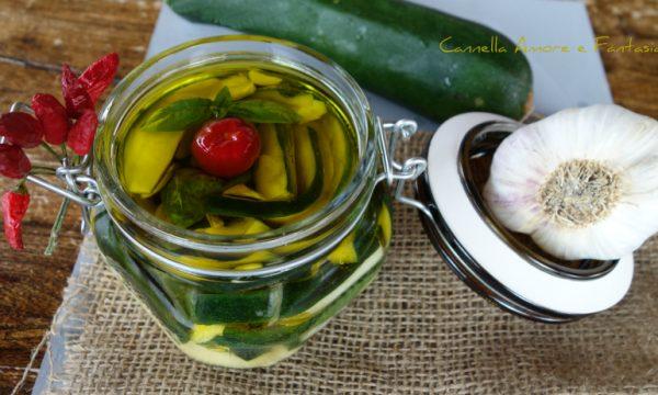 Zucchine sott'olio alla siciliana senza cottura – ricetta facile