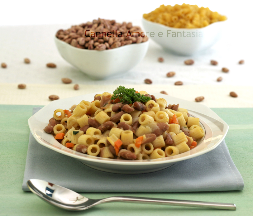 Pasta e fagioli – Pasta and Beans – ricetta vegetariana – vegana