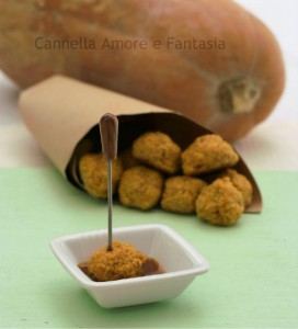 Polpettine di quinoa e zucca -ricetta finger food vegetariano.