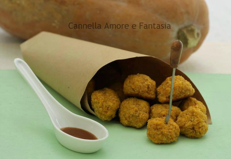 Polpettine di quinoa e zucca -ricetta finger food vegetariano