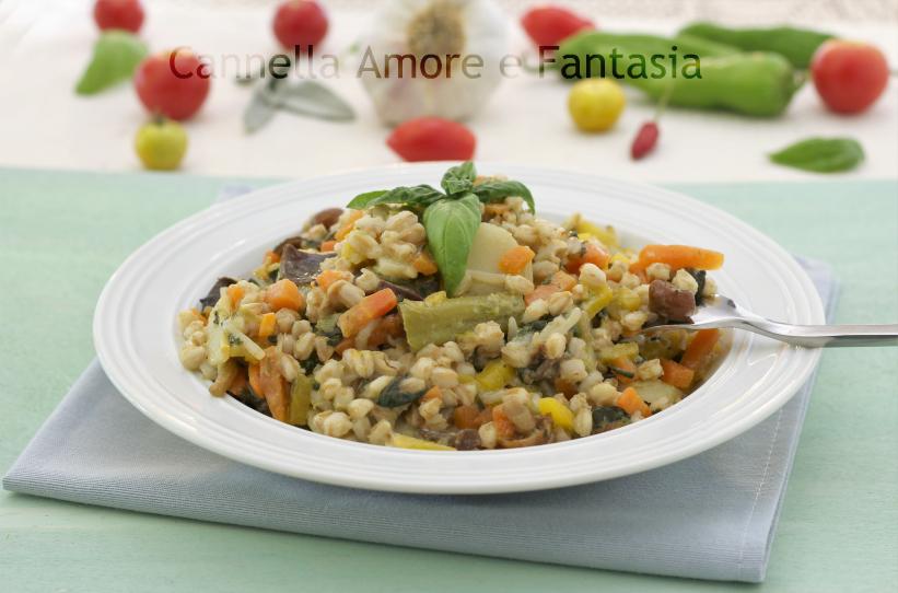 Orzotto risottato alle verdure – ricetta vegana – vegetariana