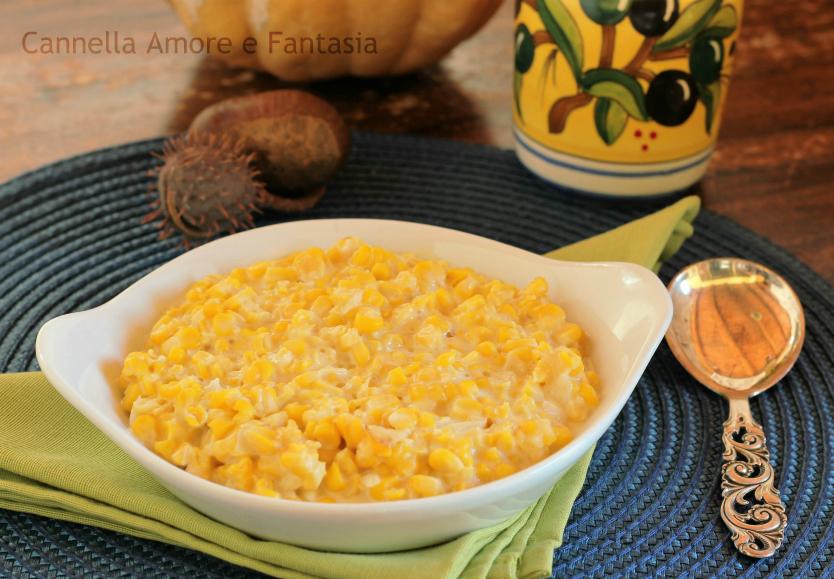 Cream corn o mais cremoso – ricetta tradizionale americana per il thanksgiving day