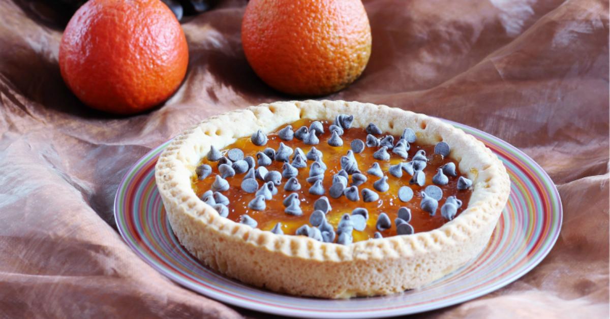 Crostata con marmellata di arance e cioccolato fb