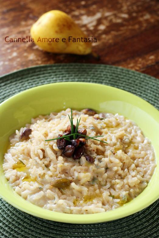 Risotto al gorgonzola pere e pistacchi 2