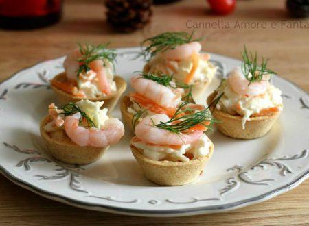 Cestini di gamberetti – ricetta tipica norvegese