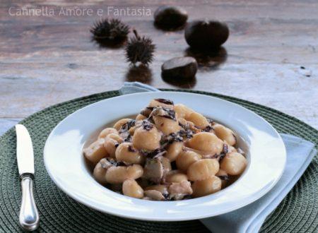 Gnocchi al radicchio e castagne – ricetta vegetariana