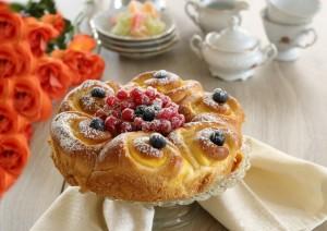 Torta di pan brioches con crema alla vaniglia 1