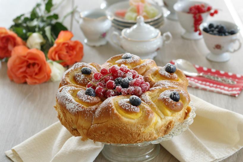 Torta di pan brioches con crema alla vaniglia 2
