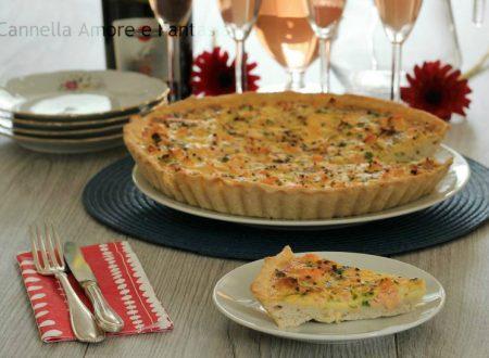 Torta salata al salmone – ricetta senza lievito