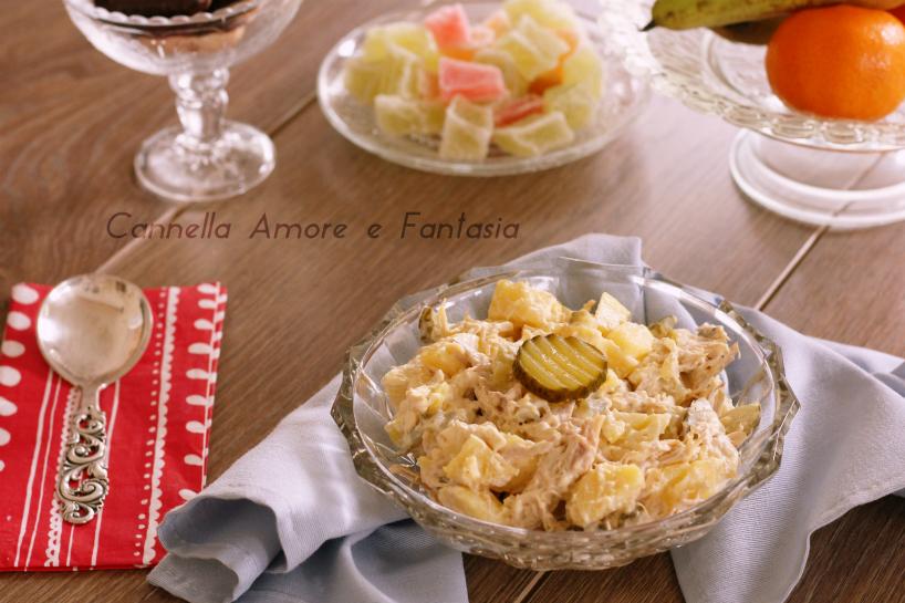 Insalata di pollo e patate cremosa – ricetta facile e perfetta per un buffet