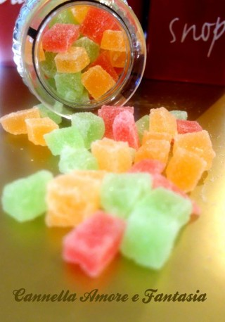 caramelle gelèe alla frutta o seigmenn