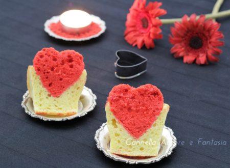 Cupcake con il cuore dentro
