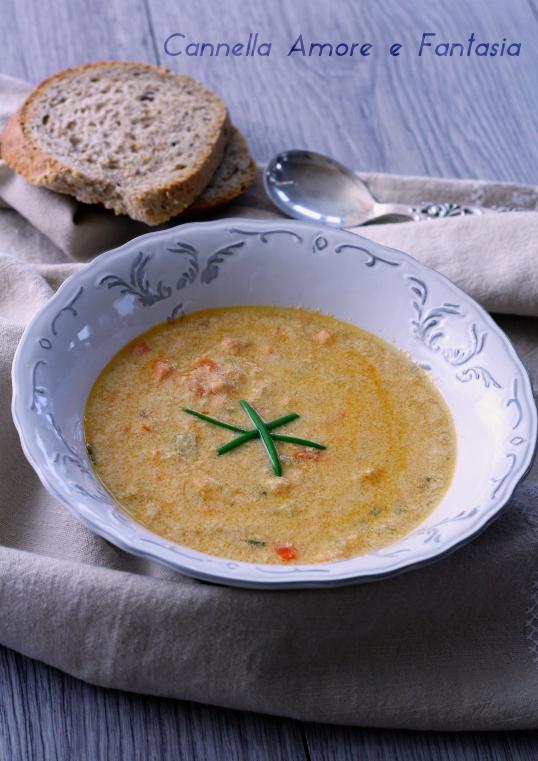 zuppa di salmone .