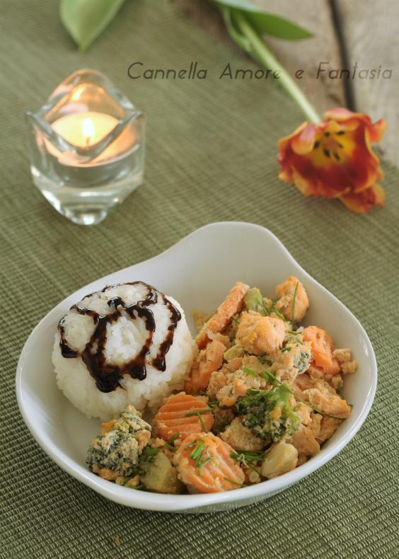 Salmone al wok